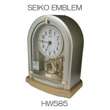 セイコー置き時計 エンブレム HW585S電波時計(電池式)メーカー1年保証 SEIKO-EMBLEM-HW585S