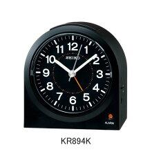 セイコー 目覚まし時計 KR894K(黒)電子音アラーム(スヌーズ機能)付きメーカー1年保証 正規品 セイコークロック