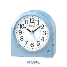 セイコー 目覚まし時計 KR894L(薄青)電子音アラーム(スヌーズ機能)付きメーカー1年保証 正規品 セイコークロック