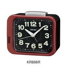 セイコー 目覚まし時計 KR896R(赤/黒)ベル音アラーム付き(一発鳴止め)メーカー1年保証 正規品 セイコークロック