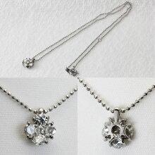 フラワーモチーフネックレス ダイヤモンド0.70ct/プラチナ850フラワーペンダント 0.70ct(宝石鑑別書付き)/Pt850