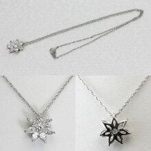 フラワーモチーフネックレス ダイヤモンド8石 1.18ct/プラチナ850フラワーペンダント 1.18ct/Pt850