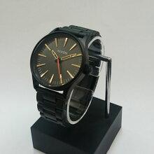 正規品 ニクソン腕時計 NA4501032-00Sentry 38 SS(セントリー38 SS)All Black/Surplus(ユニセックス)NA4501032-00/メーカー2年保証 NIXON 腕時計