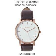 正規品 ニクソン腕時計 NA10582524-00Porter Leather(ポーター レザー)Rose Gold/Brown JPN(ローズゴールド/ブラウン)メーカー2年保証 NIXON 腕時計