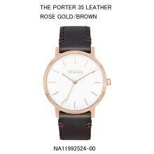 正規品 ニクソン腕時計 NA11992524-00Porter 35 Leather(ポーター 35 レザー)Rose Gold/Brown JPN(ローズゴールド/ブラウン)メーカー2年保証 NIXON 腕時計
