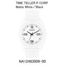 正規品 ニクソン腕時計 NA12483009-00Time Teller P Corp(タイムテラーPコープ)Matte White/Black(マットホワイト/ブラック)メーカー2年保証 NIXON 腕時計