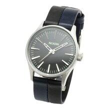 正規品 ニクソン腕時計 Sentry 38 Leather/Black Navy Black(ユニセックス)/NA3771938-00メーカー2年保証 NIXON 腕時計