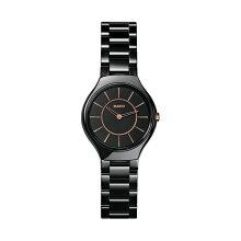 正規品 ラドー腕時計 R27.742.15.2ラドー トゥルー シンライン(レディス)黒 RADO TRUE THINLINEメーカー2年保証 RADO-R27742152