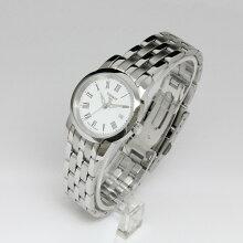 正規品 ティソ腕時計 T033.210.11.013.10白文字盤/ブレスレット(クォーツ/電池)CLASSIC DREAM JUNGFRAUBAHN(レディス)メーカー2年保証 TISSOT−T0332101101310