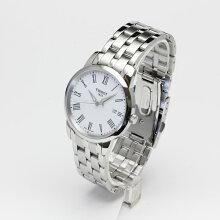 正規品 ティソ腕時計 T033.410.11.013.10白文字盤/ブレスレット(クォーツ/電池)CLASSIC DREAM JUNGFRAUBAHN(メンズ)メーカー2年保証 TISSOT−T0334101101310