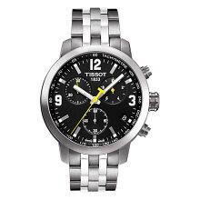 正規品 ティソ腕時計 T055.417.11.057.00/黒文字盤/ブレスレット(クォーツ)/PRC 200 Quartz Chronograph(メンズ)/メーカー2年保証 TISSOT−T0554171105700