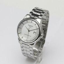 正規品 ティソ腕時計 T086.407.11.031.00シルバー文字盤/ブレスレット(機械式自動巻きモデル)LUXURY AUTOMATIC Gent(メンズ)メーカー2年保証 TISSOT−T0864071103100