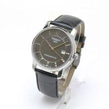 正規品 ティソ腕時計 T087.407.46.057.00黒文字盤/黒革バンド(機械式自動巻きモデル)TITANIUM AUTOMATIC Gent(メンズ)メーカー2年保証 TISSOT−T0874074605700