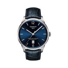正規品 ティソ腕時計(シュマン・デ・トゥレル)メンズ/T099.407.16.047.00/青文字盤/ブレスレット(青革バンド付属)自動巻きモデルTISSOT CHEMIN DES TOURELLES AUTOMATIC(メンズ)メーカー2年保証TISSOT−T0994071604700
