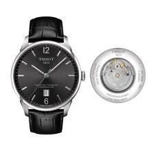 正規品 ティソ腕時計(シュマン・デ・トゥレル)メンズ/T099.407.16.447.00/グレー文字盤/ブレスレット(黒革バンド付属)自動巻きモデルTISSOT CHEMIN DES TOURELLES AUTOMATIC/メーカー2年保証TISSOT−T0994071644700