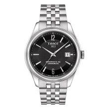 正規品 ティソ腕時計(バラード オートマチック)T108.408.11.057.00 黒文字盤/ステンレスブレスレット(機械式自動巻きモデル)BALLADE AUTOMATIC Gent(メンズ)メーカー3年保証TISSOT−T1084081105700