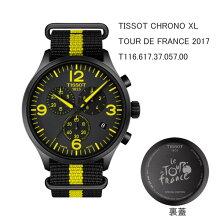 正規品 ティソ腕時計 T116.617.37.057.00黒文字盤/黒・黄色ファブリックバンド(クォーツ)TISSOT CHRONO XL TOUR DE FRANCE 2017(メンズ)メーカー2年保証 TISSOT−T1166173705700