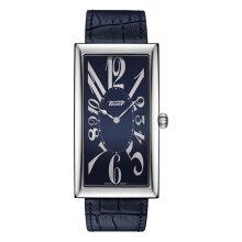 正規品 ティソ腕時計 T117.509.16.042.00ティソ ヘリテージ バナナ センテナリー 日本スペシャルモデル紺色文字盤/紺色カーフストラップ(クォーツモデル)メーカー2年保証 TISSOT−T1175091604200