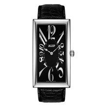 ティソ腕時計 T117.509.16.052.00 バナナウォッチTISSOT ヘリテージ バナナ センテナリー エディション黒色文字盤/黒色カーフストラップ(クォーツモデル)メーカー2年保証 正規品TISSOT−T1175091605200