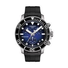 正規品 ティソ腕時計 T120.417.17.041.00/青文字盤/ラバーバンド(クォーツクロノ)/TISSOT SEASTAR 1000 CHRONOGRAPH(メンズ)/メーカー2年保証 TISSOT−T1204171704100