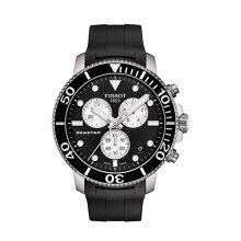 正規品 ティソ腕時計 T120.417.17.051.00/黒文字盤/ラバーバンド(クォーツクロノ)/TISSOT SEASTAR 1000 CHRONOGRAPH(メンズ)/メーカー2年保証 TISSOT−T1204171705100