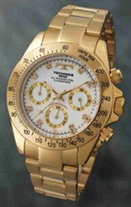 【楽天最安値に挑戦中】【送料込】テクノスTECHNOS腕時計クロノグラフTGM639GW