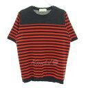 【中古】TOMORROW LAND tricot ボーダーTシャツ オレンジ×ネイビー サイズ:M 【050518】(トゥモローランドトリコ)