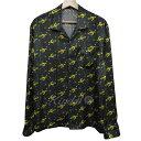 【中古】O- CHO-RUI.LAB×CYDERHOUSE COSMIC SHIRTコズミックシャツ ブラック サイズ:L 【送料無料】 【290319】(オー レイチョウルイラボ サイダーハウス)