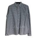 【中古】YAECA Button Shirts Relax ホワイト×ブラック サイズ:M 【290419】(ヤエカ)