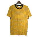 【中古】AMI Alexandre Mattiussi ボーダーTシャツ イエロー サイズ:S 【190619】(アミアレクサンドルマテュッシ)