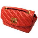 【中古】BALENCIAGA 「BB ROUND S」チェーンショルダーバッグ レッド サイズ:- 【200719】(バレンシアガ)