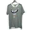 【中古】Ksubi × Travis Scott ボーダーTシャツ ホワイト×ブラック サイズ:L 【160819】(スビ × トラヴィス スコット)
