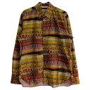 【中古】TENDERLOIN x THE STYLIST JAPAN BD SHIRT コラボボタンダウンシャツ マスタード×ブラウン サイズ:XS 【170819】(テンダーロイン スタイリストジャパン)