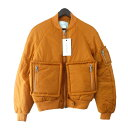 【中古】TONSURE18AW「PADDED BOMBER JACKET」ボンバージャケット オレンジ サイズ:48 【11月5日見直し】