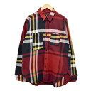 ショッピングエンジニア 【中古】Engineered Garments Work Shirt Heavy Twill Plaid チェック ワークシャツ レッド サイズ:M 【190120】(エンジニアードガーメンツ)