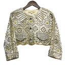 ショッピングマークジェイコブス 【中古】MARC JACOBS12SS 「Broderie Anglais Jacket」 スタッズジャケット イエロー サイズ:0 【3月12日見直し】