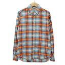 ショッピングINDIVIDUALIZED 【中古】INDIVIDUALIZED SHIRTS マルチカラーチェック ボタンダウンシャツ マルチカラー サイズ:32 (14 1/2) 【090320】(インディビジュアライズドシャツ)