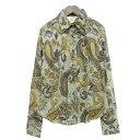 【中古】ETRO ペイズリークラシックシャツ ミント サイズ:44 【010520】(エトロ)