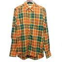 ショッピングINDIVIDUALIZED 【中古】INDIVIDUALIZED SHIRTS チェックボタンダウンシャツ ブラウン×グリーン サイズ:14 1/2-32 【030520】(インディビジュアライズドシャツ)
