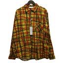 ショッピングネルシャツ 【中古】NEON SIGN 「FLANNEL SHIRT UNIVERSAL CHECK」チェックフランネルシャツ レッド×イエロー サイズ:48 【030520】(ネオンサイン)