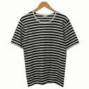 ショッピングマリメッコ 【中古】marimekko ボーダーTシャツ ホワイト×ブラック サイズ:S 【260520】(マリメッコ)