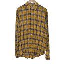 【中古】Faith Connexion Loose Check Shirt チェックシャツ イエロー サイズ:XS 【310520】(フェイスコネクション)