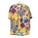 【中古】Paul Smith 18SS KOI HAWAIAN ALOHA SHIRT アロハシャツ イエロー サイズ:L 【040720】(ポールスミス)