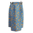 ショッピングSSK 【中古】TOGA ARCHIVES 14SS フラワータイトスカート ブルー×ベージュ サイズ:0 【280720】(トーガアーカイブ)