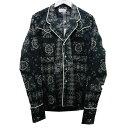 【中古】RHUDE 「BANDANA WESTERN PAJAMA SHIRT」 パジャマシャツ ブラック サイズ:S 【030920】(ルード)