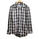 【中古】AiE Painter Shirt Poplin Shadow Plaid ペインターシャツ ブラック×ホワイト サイズ:M 【050920】(エーアイイー)