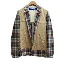 ショッピングギャルソン 【中古】JUNYA WATANABE CdG MAN 20SS Checked Jacket チェックジャケット ベージュ サイズ:XS 【140920】(ジュンヤワタナベコムデギャルソンマン)
