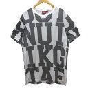 【中古】Onitsuka tigerTシャツ OKT353 ホワイト、グレー サイズ:XL 【11月16日見直し】