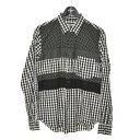 ショッピングギャルソン 【中古】BLACK COMME des GARCONS 13AW 切替シャツ ブラック×ホワイト サイズ:M 【050221】(ブラック コムデギャルソン)