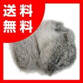 イヤーラックス・フレームレスイヤーマフ(防寒耳カバー)【ラビットファーSM(約5〜8cm)・シルバー】